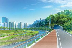 自然環境と一体となったエコロード計画