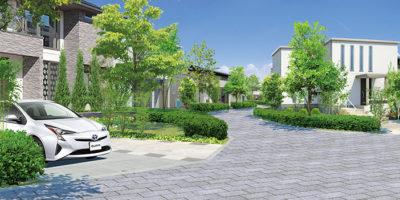 民間宅地開発と緑地計画