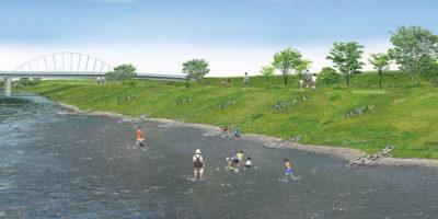 河岸の親水イメージ