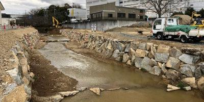 近自然河川への改修 -施工中①-