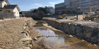 近自然河川への改修 -施工中②-