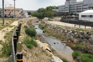 近自然河川への改修 -施工中③-